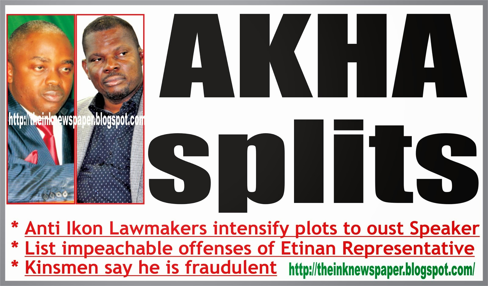 AKHA Splits *Anti Ikon lawmakers intensify plot to oust Speaker