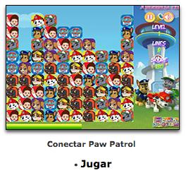 juego de paw patrol de conectar piezas