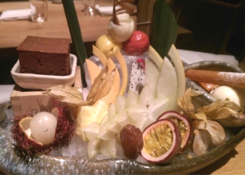 Japanese dessert platter ROKA Aldwych London