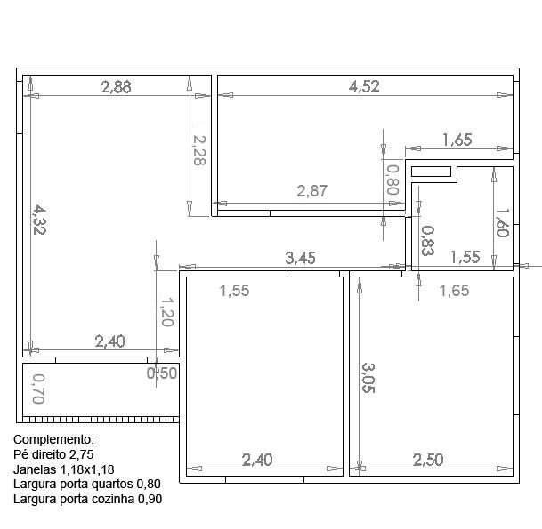 Suficiente Residencial Floriza I e II: Medidas planta da ponta - Atualizada TT48