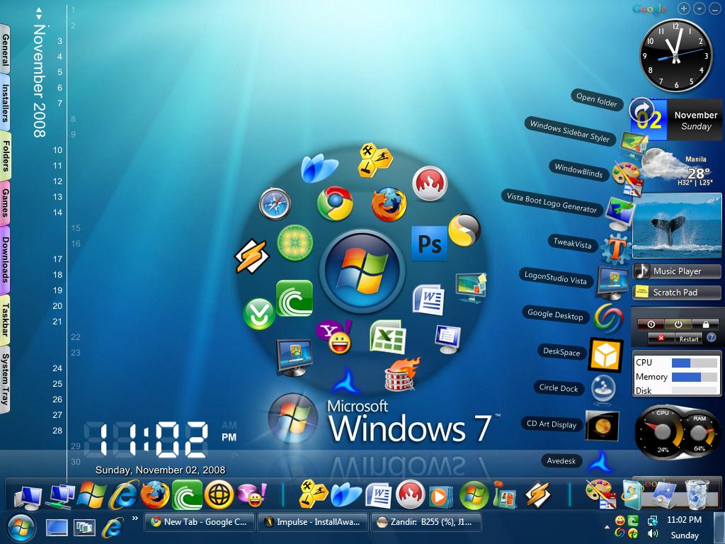 Windows 7 Desktop Theme Free Download
