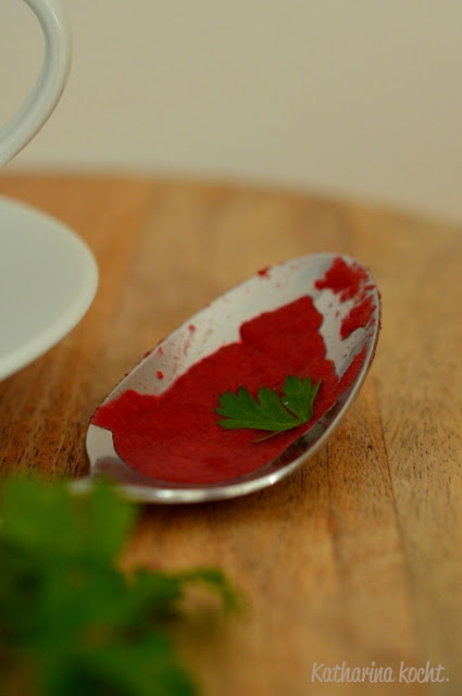 Kürbis Rote Bete Ingwer Kokosmilch Currypaste Sauerrahm
