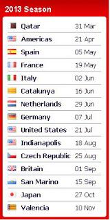 Yaps demikianlah Jadwal Lengkap Moto GP 2013-2014 .