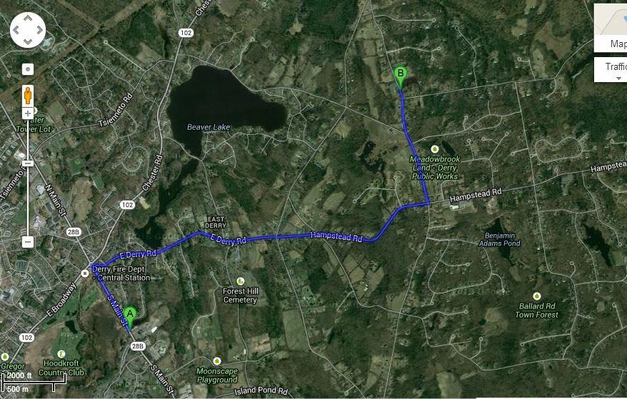Elder Bryson Scott Dean: Google Map views of Derry, NH on