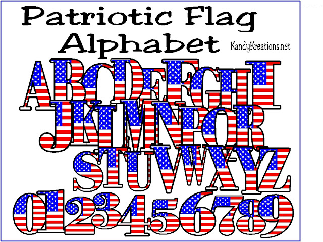 Make your 4th of July invitations or scrap book memories extra fun with this Patriotic Flag Alphabet