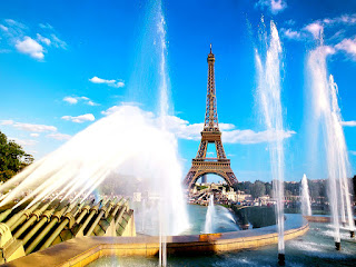 Eiffel Tower Paris Parks Pools HD Wallpaper