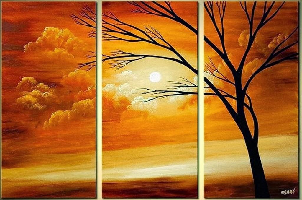 Cuadros modernos pinturas y dibujos 30 cuadros tr pticos for Imagenes de cuadros abstractos faciles de hacer