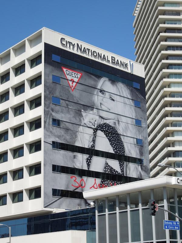 Giant Guess Claudia Schiffer billboard