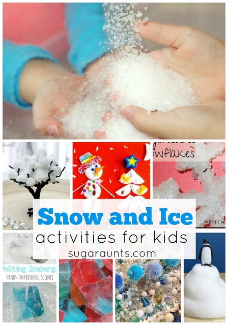 Winter snow and ice activities for kids