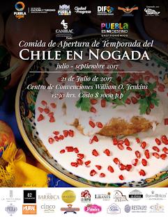 Ayuntamiento de Puebla y la CANIRAC Presentan la Tradicional Comida de Apertura de Chiles en Nogada