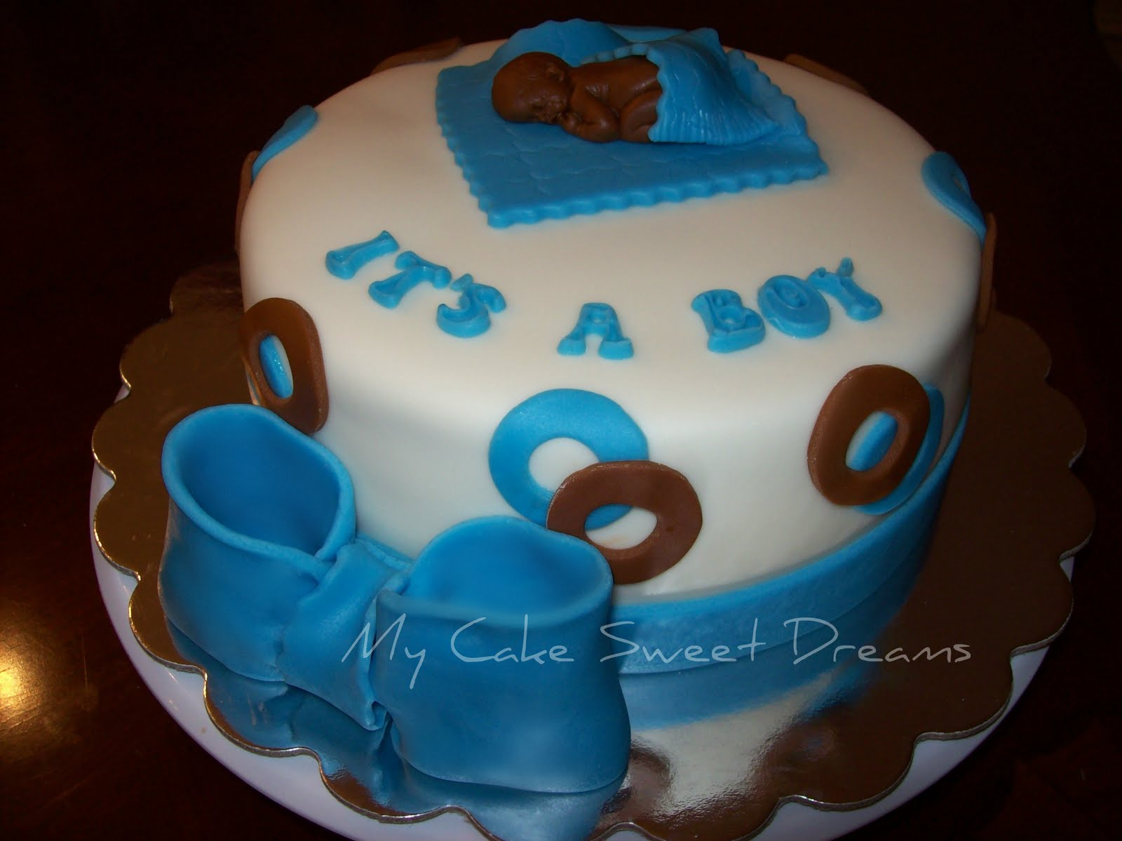 my cake sweet dreams baby boy shower cake