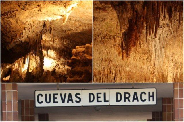 Interior Cuevas del Drach en Mallorca – Cartel Cuevas del Drach