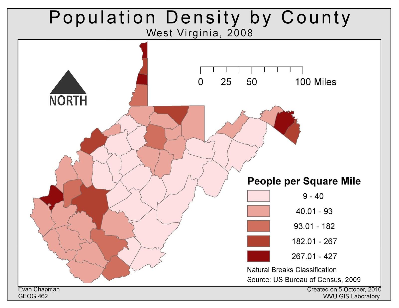 population density west virginia
