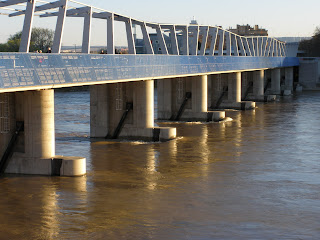 Azud del Ebro inindado Zaragoza