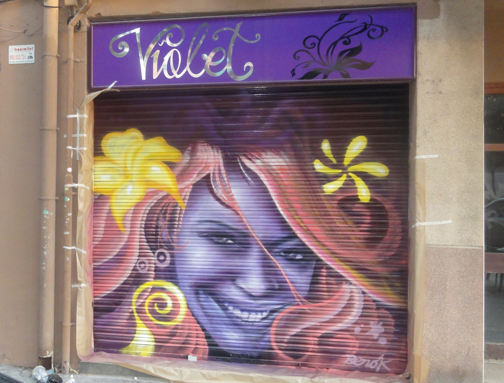 Berok graffiti mural profesional en barcelona graffiti - Decoracion de peluqueria ...