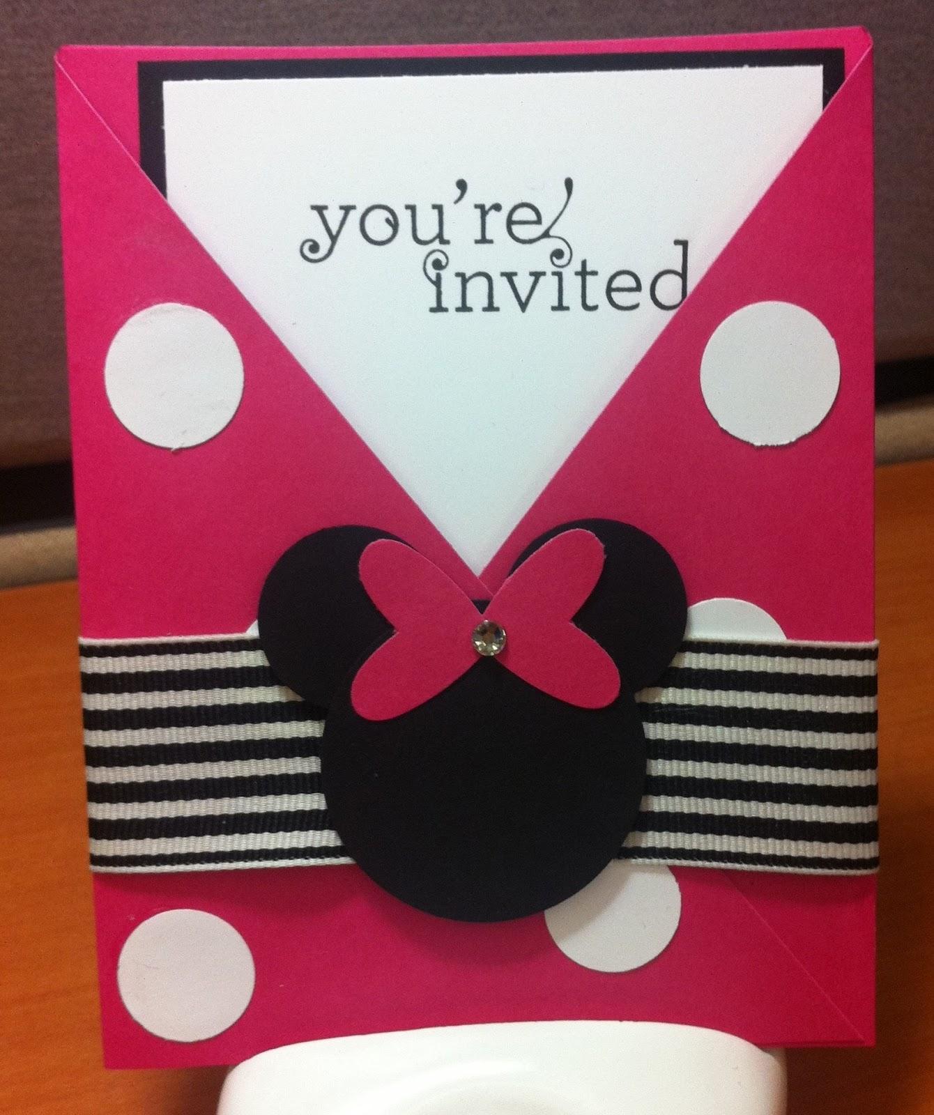 Jennifer s Stamp Pad Minnie Mouse Invites