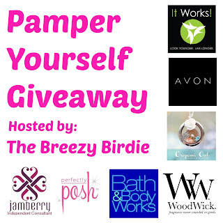 Enter the Pamper Yourself Giveaway by 7/31 to win lots of prizes.