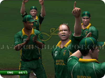 EA Sports Cricket 2007 PC Game| South Africa got a wicket by Shaun Pollock.