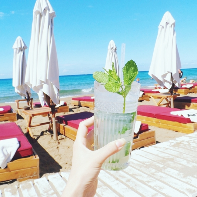 Jelena Zivanovic Instagram @lelazivanovic.Glam fab week.Cocktails at Pazuzu bar,Glyfada beach,Corfu.Where to go in Corfu.Gde ici na Krfu.
