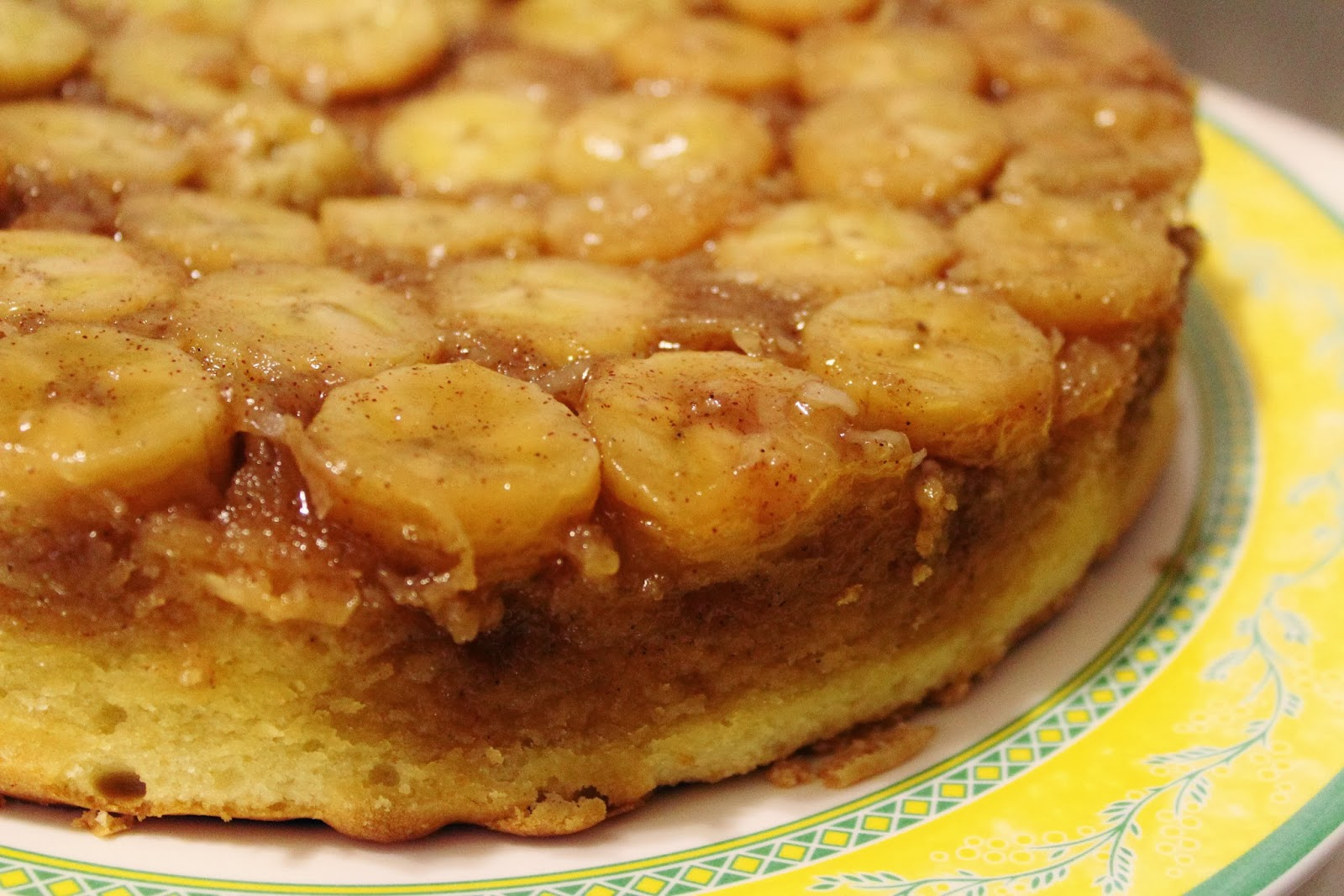 Blog as you Bake: Banana Coconut Upside Down Cake