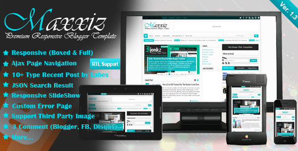 Maxxiz - Responsive Blogger Template Free download