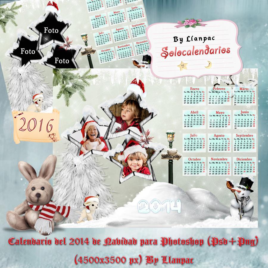 por ltimo os dejo otro calendario actualizado para el en este caso con motivos navideos esta disponible en formatos psd y png