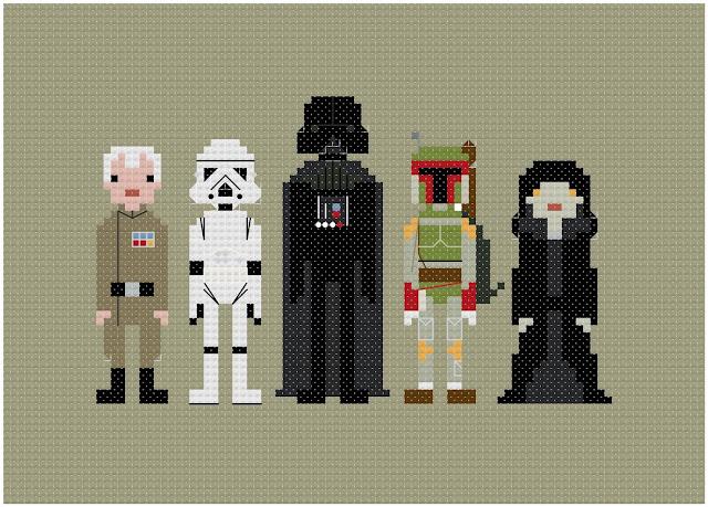 Bordados em ponto cruz: Star Wars