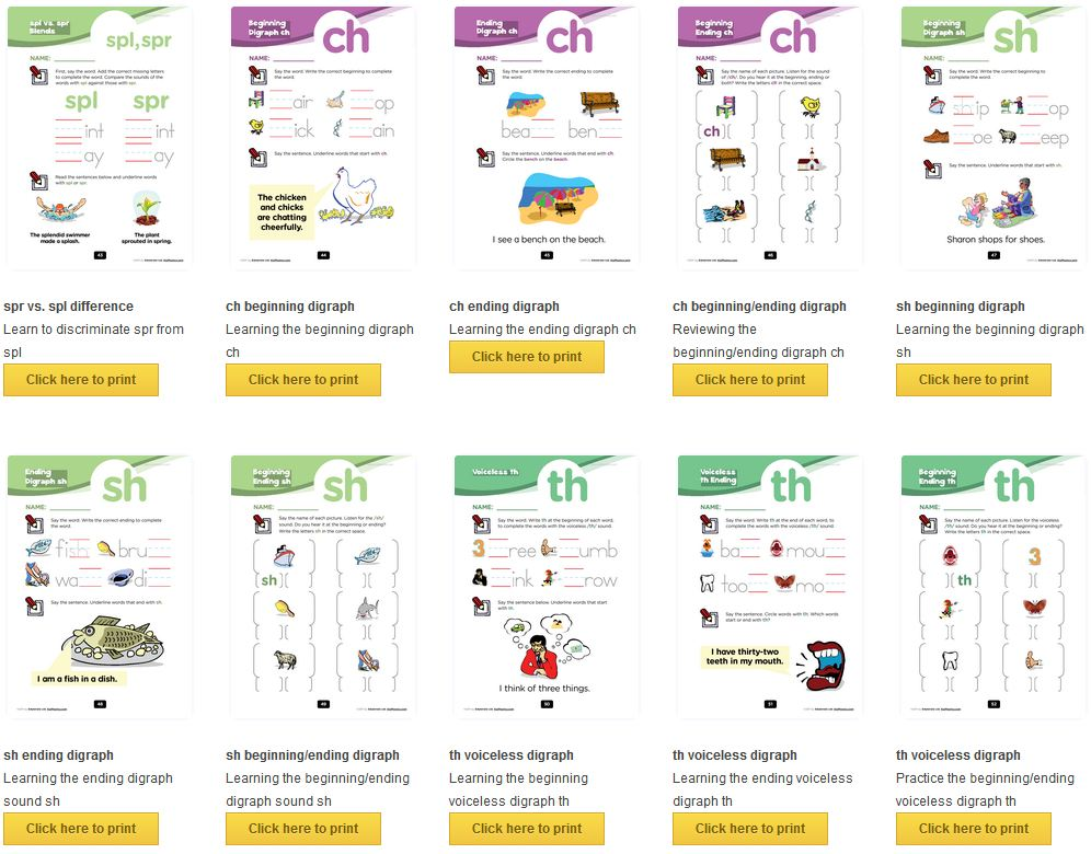 has a lovely set of phonics resources. There are often six activities ...