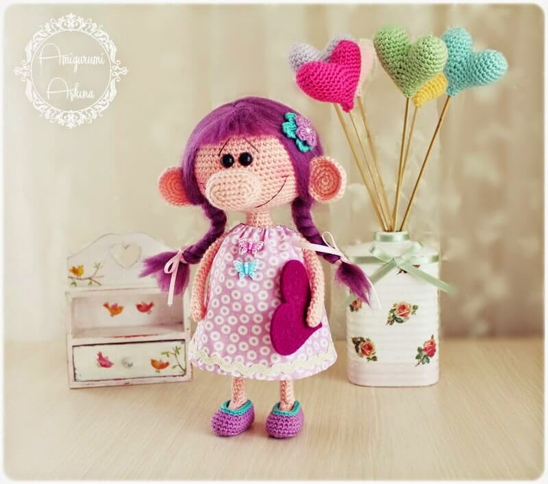 Amigurumi Askina Demet : Amigurumi Koca Burunlu Minik Kiz- Amigurumi Little Doll ...