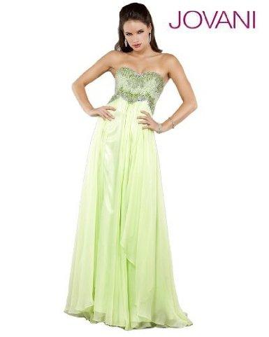 Jovani 1920 Light Green Strapless Evening Gown Dress Prom 2 6 New Jovani Dresses