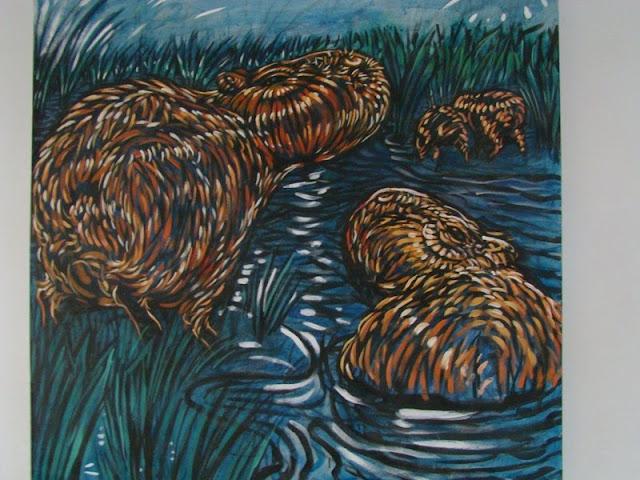 carpinchos en el agua