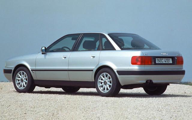 Audi 80: última geração, fim dos anos 80, começo dos anos 90