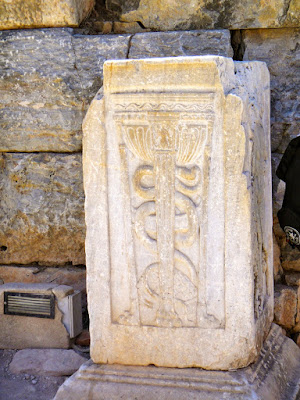 Symbol of medical world Ephesus Turkey