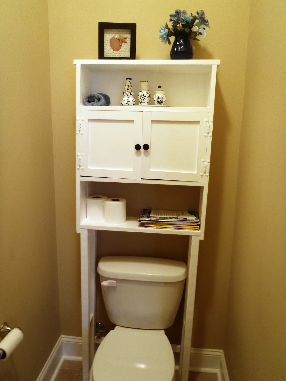 Lazy liz on less space saver for bathroom for Bathroom shelving ideas for small spaces