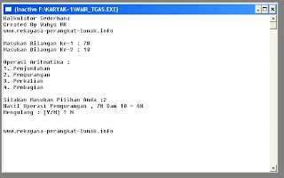 gambar program kalkulator sederhana dengan c++
