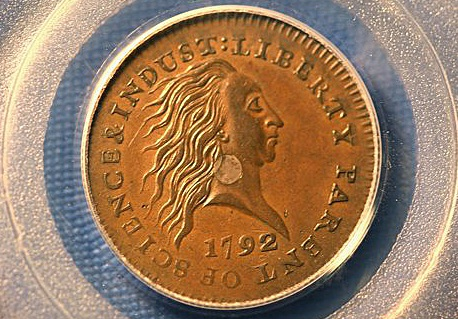 rare one cent of U.S.A. of 1792 sold at 1.5 millions