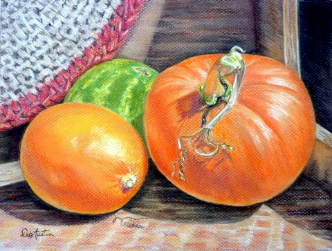 Fall Harvest (pastels)