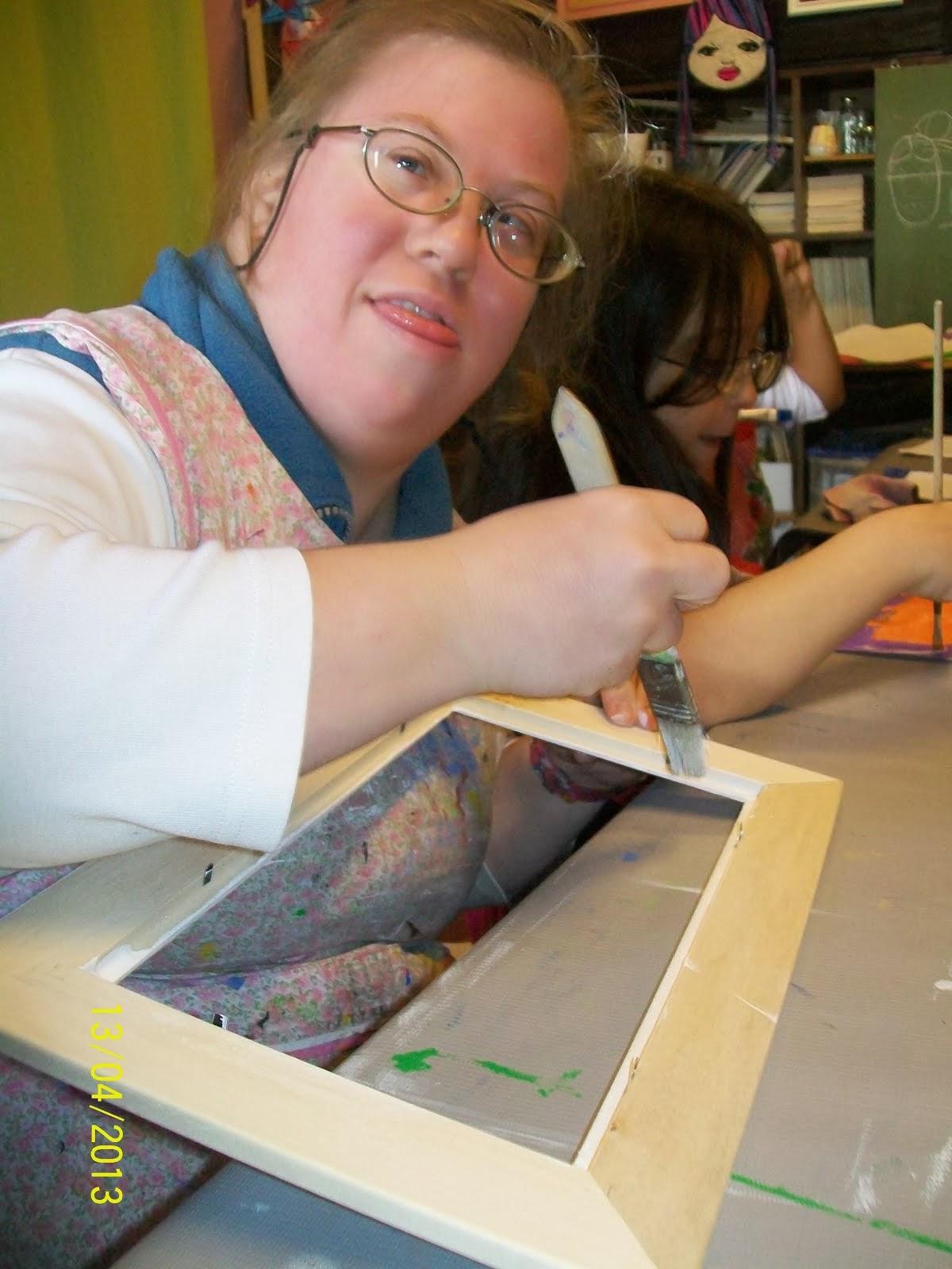 Pintando un cuadro con azulejos 1