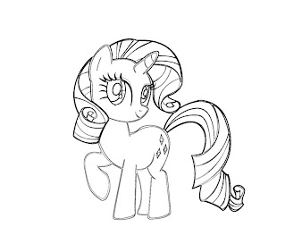 #3 Rarity Coloring Page