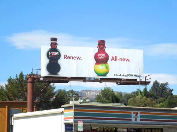 Pom Mango Renew All new billboard