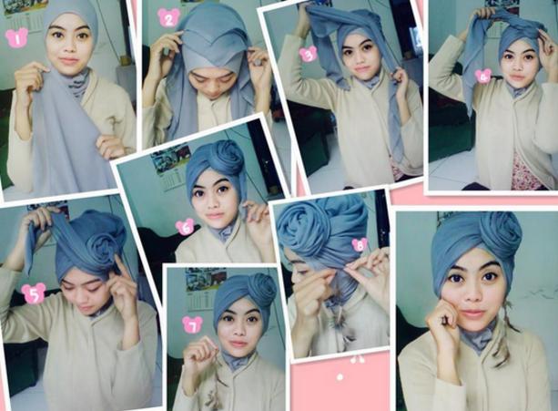 Tutorial Hijab Segi Empat Laudya Chintya BellaTutorial Hijab Versi ...