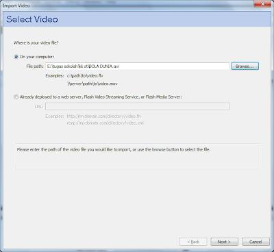 Cara Memasukan Video Kedalam Flash