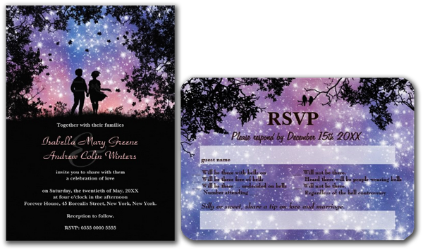 The World Is Ours Borealis Wedding Invitation
