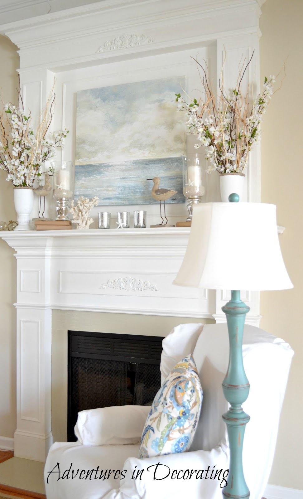Decorating A Mantle In Great Room