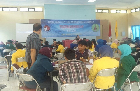 Muhammad Nasheh Ulwan, Suhendi, dan Anissa Sofiawardah menadi perwakilan dari PGSD UNTIRTA di kongres nasional wilayah II (Jawa, Bali, NTT, dan NTB).