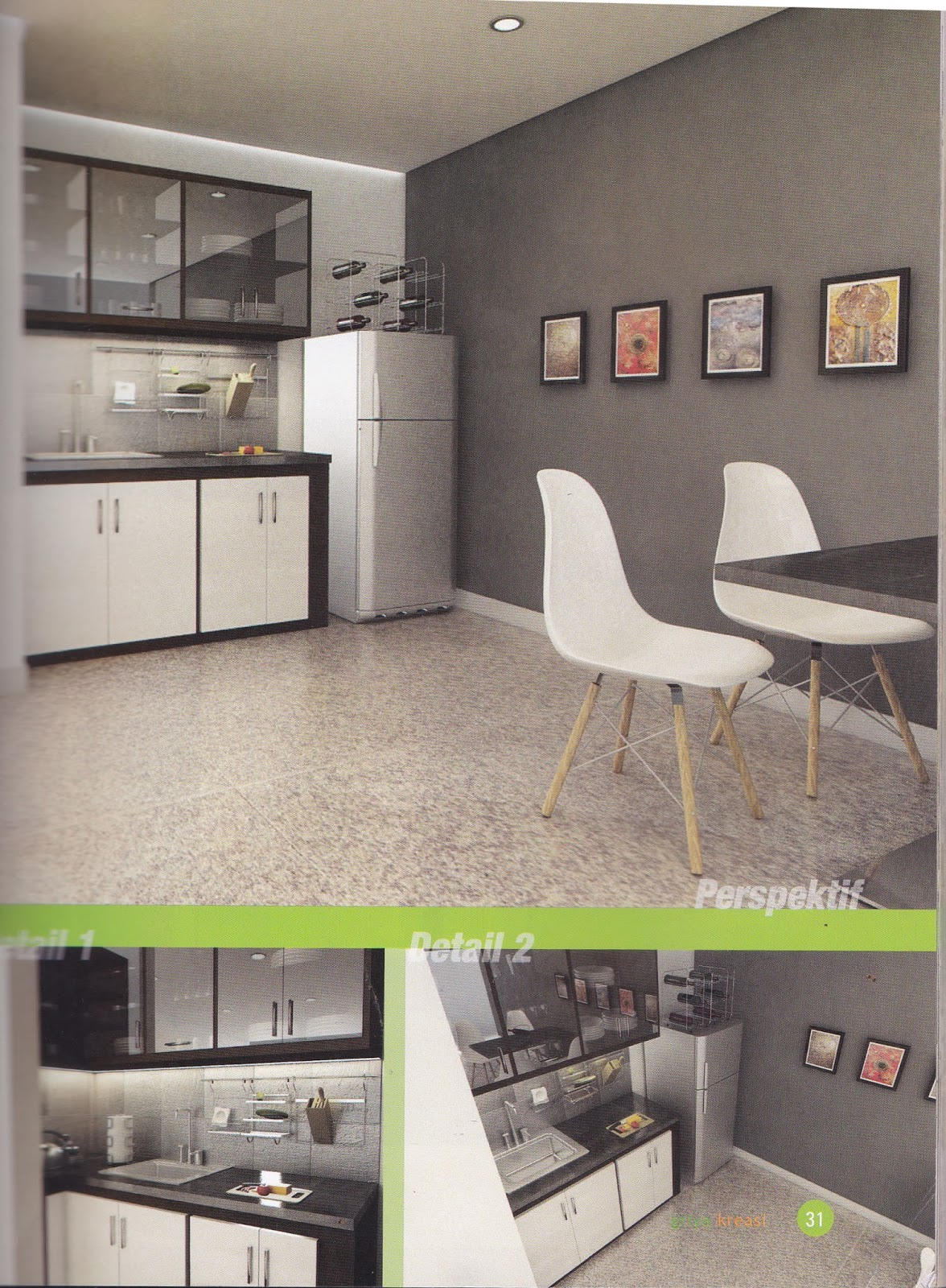 Desain Kitchen Set Warna Coklat Elegan 4 95 Juta Untuk Dapur Mungil