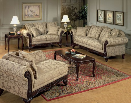 ruang tamu mewah gaya victorian | minimalist-id