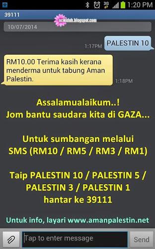 Sumbangan Untuk GAZA