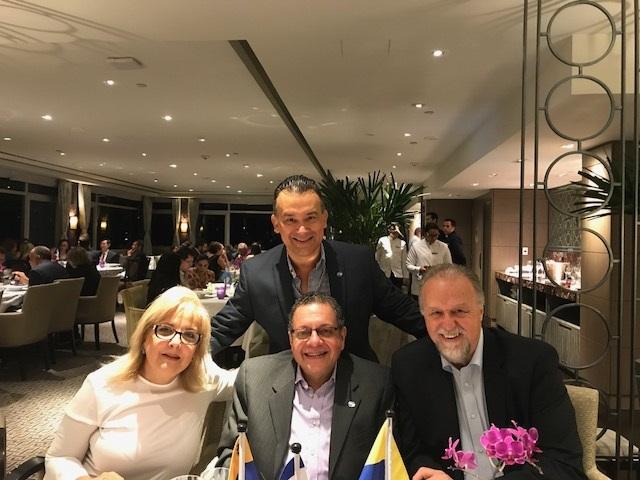 Con Leyla Nacimento Presidenta de Fidagh, Iván Arenas Primer VP de Fidagh y mi amigo Wagner Brunini
