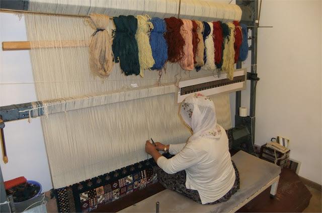 Visita a una fábrica de alfombras